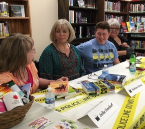 Barbara Deese, Jessie Chandler and Pat Dennis and I at the Wells Library