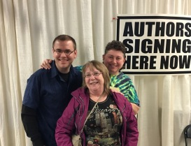 Authors Jessie Chandler and Brian and me.